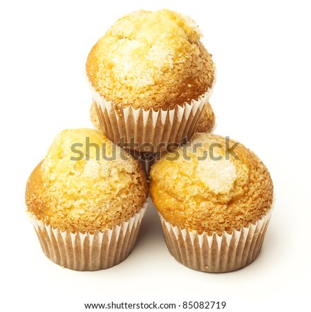 sugar muffins isolated on a white background