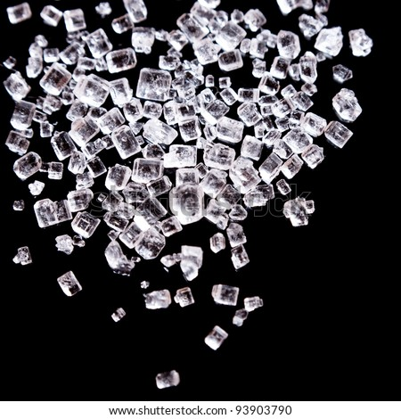 Sugar or salt crystals macro shot - stock photo