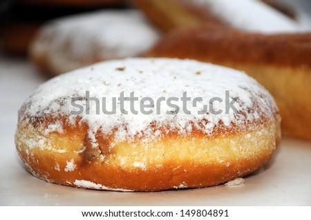 Sugar Powdered Donut - stock photo