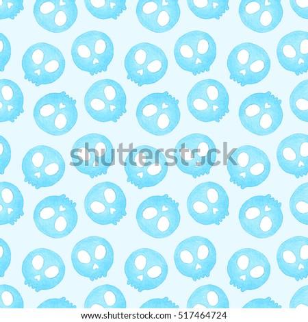 Sugar Skull Seamless Pattern Day Dead Stock Illustration 517464724