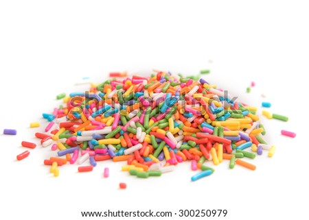 Sugar sprinkle , decoration for cake and bakery - stock photo