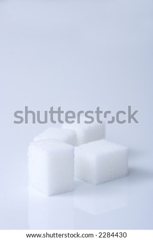 sugar, sugar pieces, sweet, tea, coffee, candy, diabetes, health, good, bad, white, blue, abstract, background, pleasure,