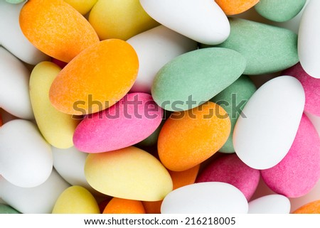 sugared almonds - stock photo