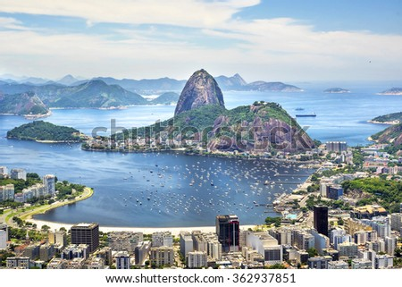 Sugarloaf Mountain in Rio de Janeiro, Brazil. - stock photo