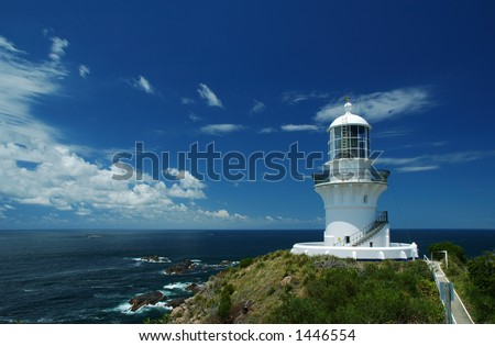 Sugarloaf Point Lighthouse, Seal Rocks, NSW, Australia - stock photo