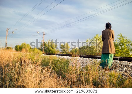 Suicidal woman - stock photo