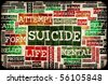 Suicide Concept as a Grunge Depression Background - stock photo