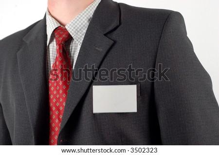 suit badge #5 - stock photo