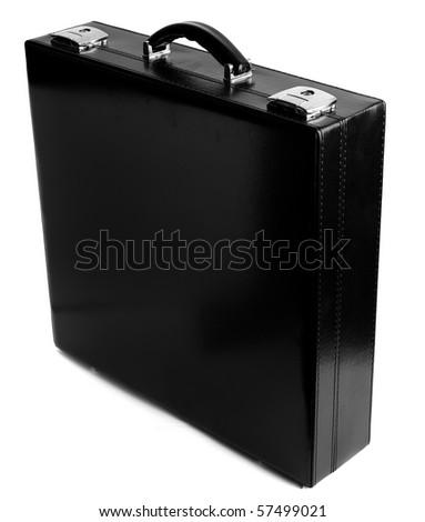 suit case on white background - stock photo