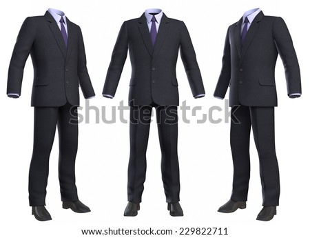 Suit isolated on white background. Clipping path included