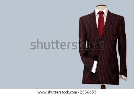 Suit on mannequin. - stock photo