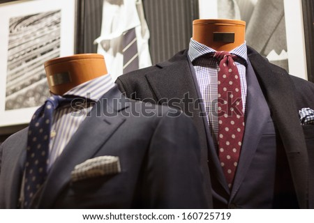 Suit on the mannequin