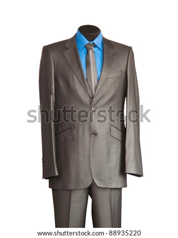 suit on white background