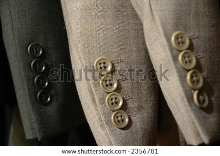 Suit Sleeves. - stock photo