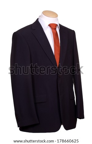 suit with tie - stock photo