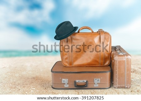 Suitcase. - stock photo