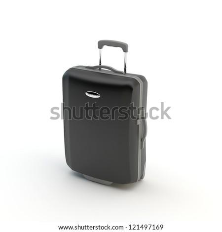 Suitcase isolated on a white background - stock photo