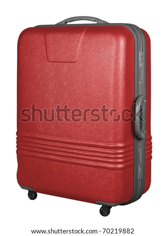 Suitcase isolated on a white background. - stock photo