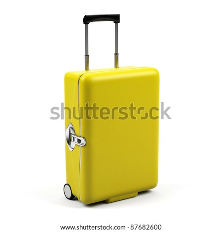 Suitcase isolated on a white background. - stock photo