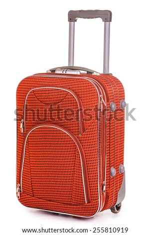 Suitcase isolated on white background - stock photo