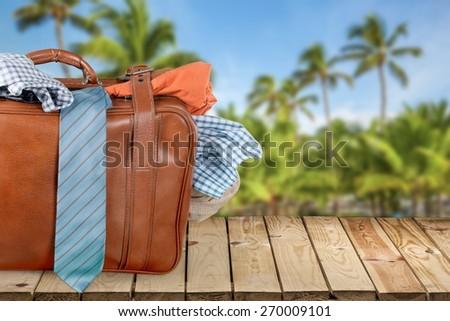 Suitcase, Luggage, Full. - stock photo