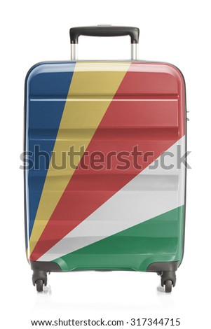 Suitcase painted into national flag series - Seychelles