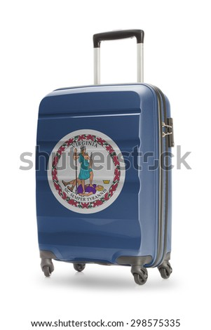 Suitcase painted into US state flag - Virginia - stock photo
