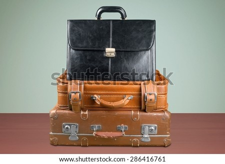Suitcase, Retro Revival, Luggage. - stock photo