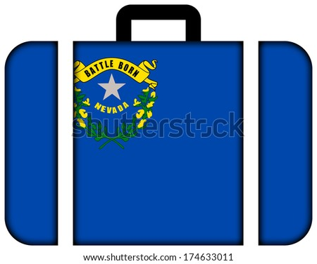 Suitcase with Nevada State Flag