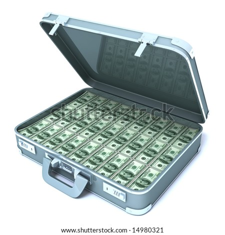 Suitcase with one million dollars
