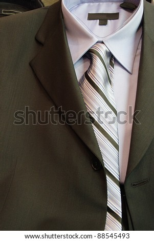 suite and tie - stock photo