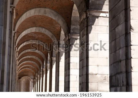 Suite of arches  - stock photo