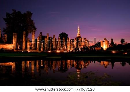 Sukhothai Historical Park. Sukhothai Province, Thailand - stock photo