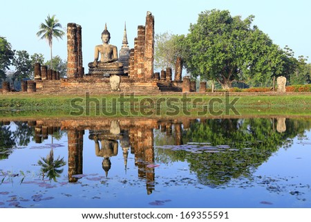 Sukhothai historical park, the old town of Thailand in 850 year ago