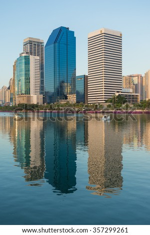 Sukhumvit area & Benchakitti Park, Bangkok - 29 November 2015 One of the key business district in Bangkok and also the top area in term of the asset value