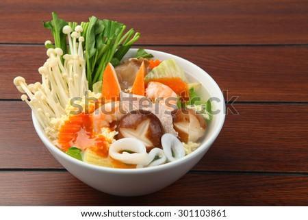 sukiyaki, asian cuisine - stock photo