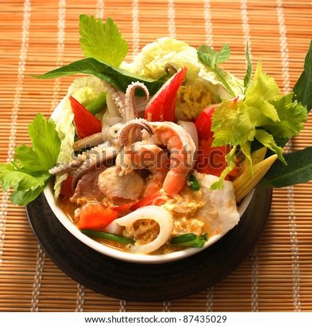 sukiyaki, asian cuisine. - stock photo