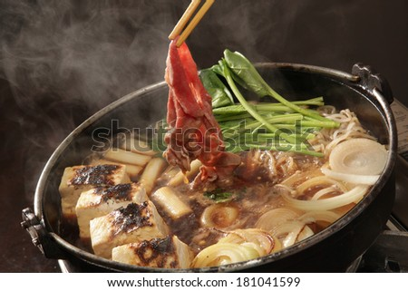 Sukiyaki japanese food - stock photo