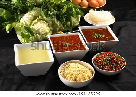 Sukiyaki sauce - stock photo