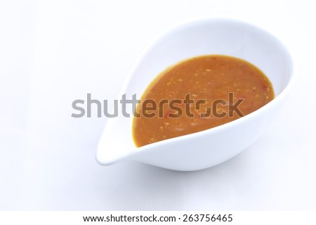 Sukiyaki sauce in cup - stock photo