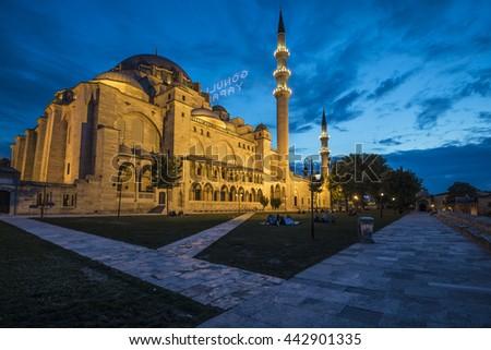 sulemaniye mosque - istanbul - stock photo