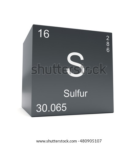 Sulfur chemical element symbol periodic table stock illustration sulfur chemical element symbol from the periodic table displayed on black cube 3d render urtaz Choice Image