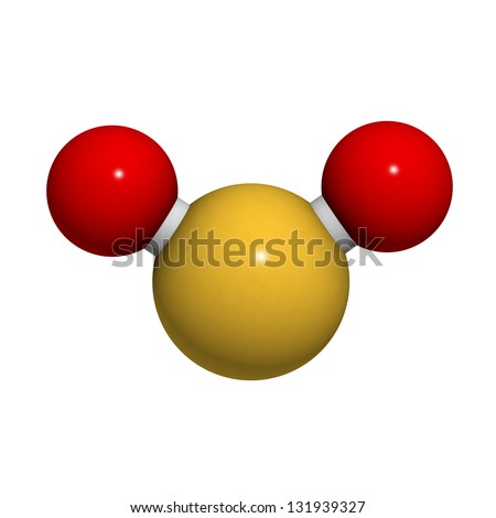 Sulfur Dioxide Sulphur Dioxide So 2 Gas Stock Illustration 131939327