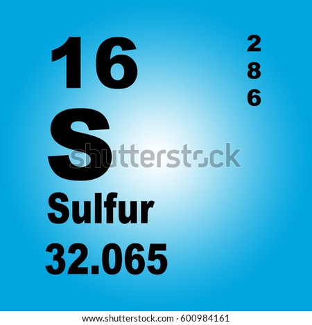 Sulfur Periodic Table Elements Stock Illustration 600984161