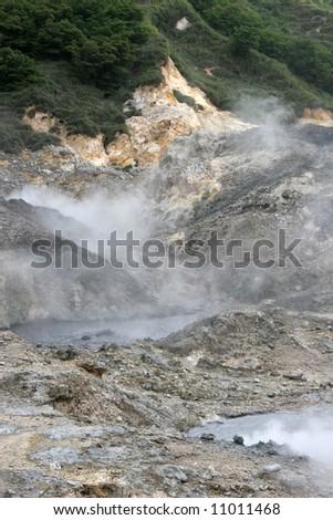 sulfur springs, st Lucia, Caribbean - stock photo