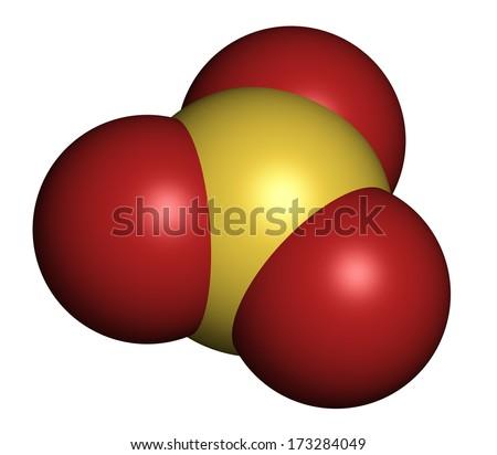 Sulfur Trioxide Molecule Royalty Free Stock Images - Image: 8439049