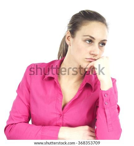 Sulky Girl - stock photo