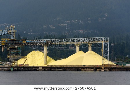 Sulphur Mountain in the port of Vancouver in Canada - stock photo