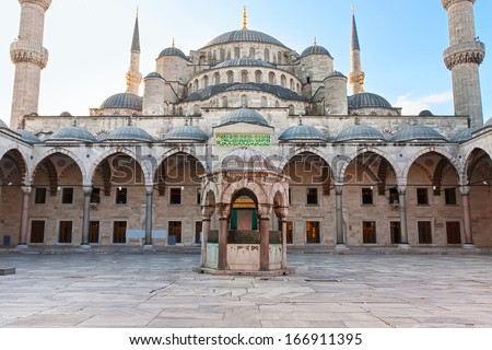 Sultan Ahmed Blue Mosque in Istanbul, Turkey - stock photo