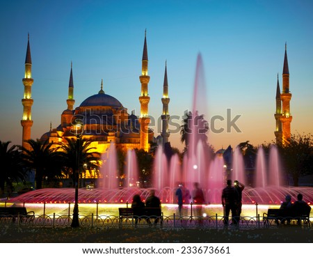 Sultan Ahmet Camii (Blue Mosque). Istanbul, Turkey - stock photo